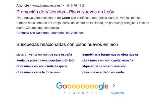 Anuncio en Google
